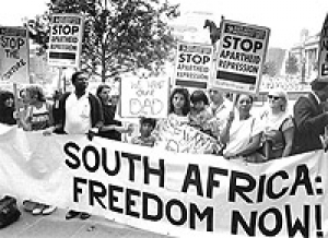 the reality of the apartheid and other forms of discrimination against the african american in the s